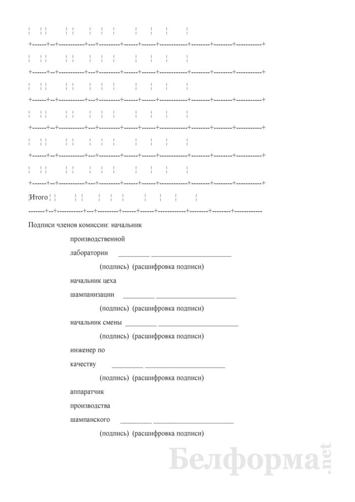 Акт о приготовлении экспедиционного (резервуарного) ликера (Форма П-21 (игристое)). Страница 3