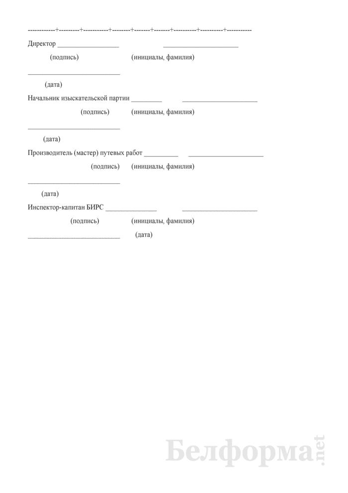 Акт о производстве изыскательских работ. Страница 2