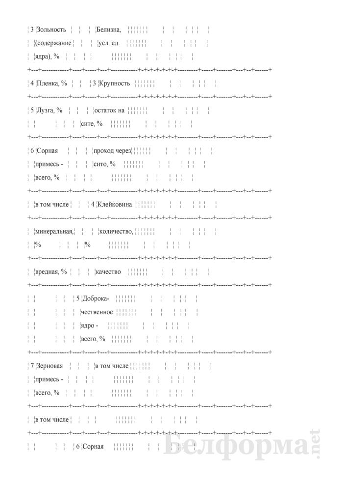 Акт о зачистке производственного корпуса и результатах переработки зерна (Форма № ЗПП-117). Страница 3