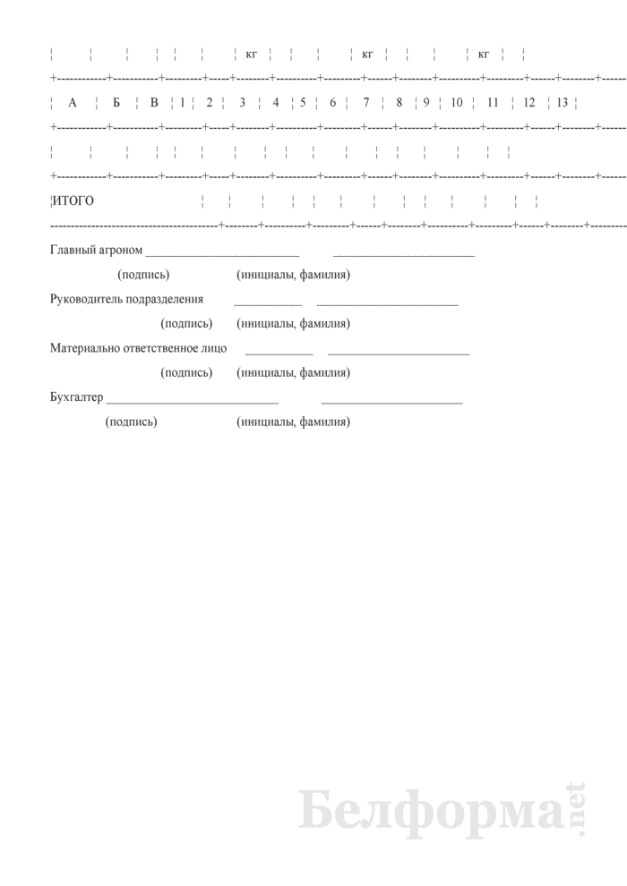 Акт об использовании минеральных, органических и бактериальных удобрений и гербицидов (Форма 206-АПК). Страница 2