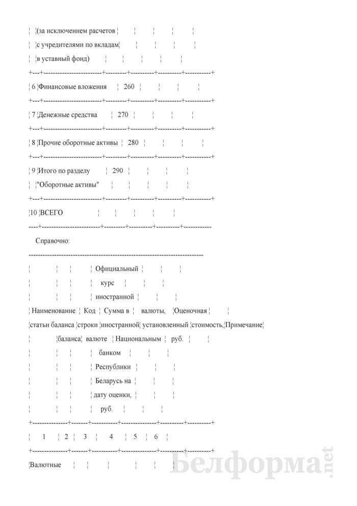 Акт оценки стоимости оборотных активов, переданных в аренду, по состоянию на дату приобретения статуса арендного предприятия (при расчете величины уставного фонда акционерного общества, создаваемого в процессе приватизации собственности Гродненского района). Страница 2