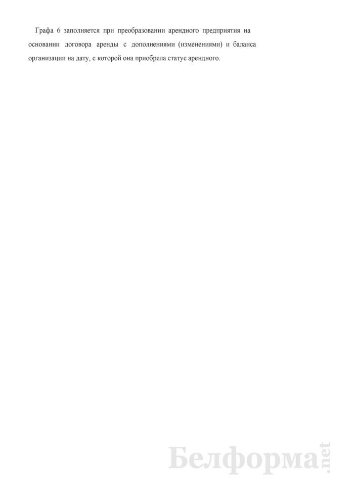 Акт определения стоимости имущества арендного предприятия на дату прекращения срока действия договора аренды предприятия по балансовой стоимости (при расчете величины уставного фонда акционерного общества, создаваемого в процессе приватизации собственности Гродненского района). Страница 7