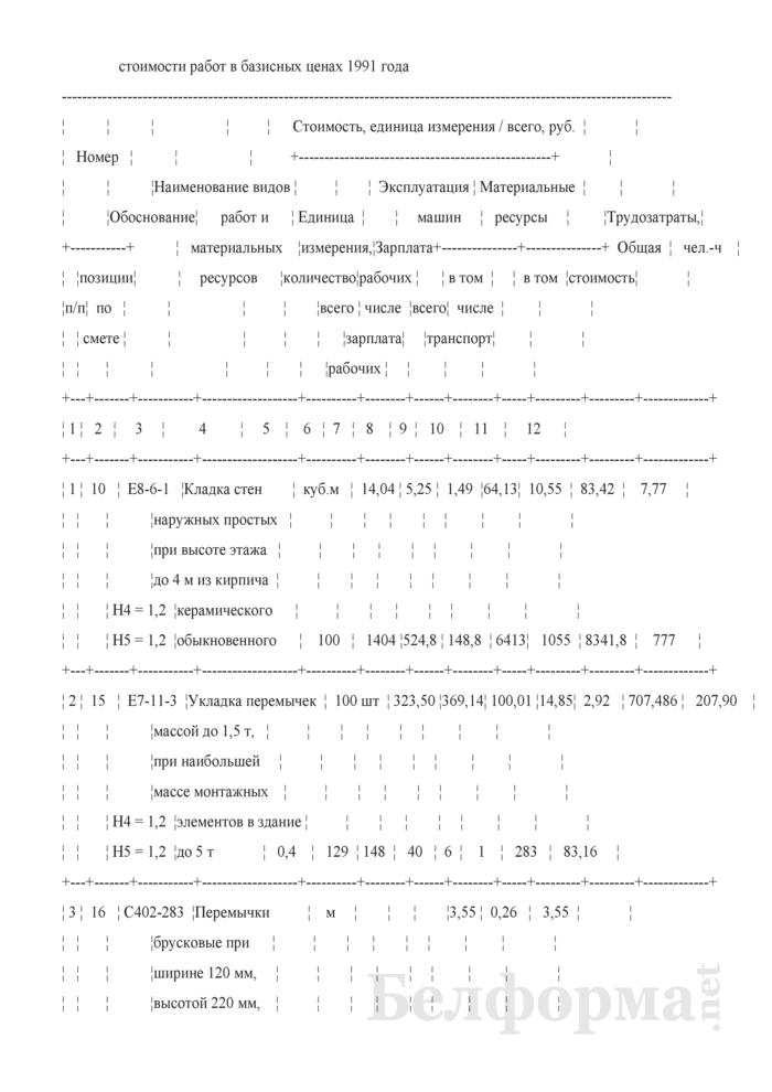 Акт сдачи-приемки выполненных строительных и иных специальных монтажных работ (Форма С-2, форма по ОКУД 0501030) (Образец заполнения). Страница 2