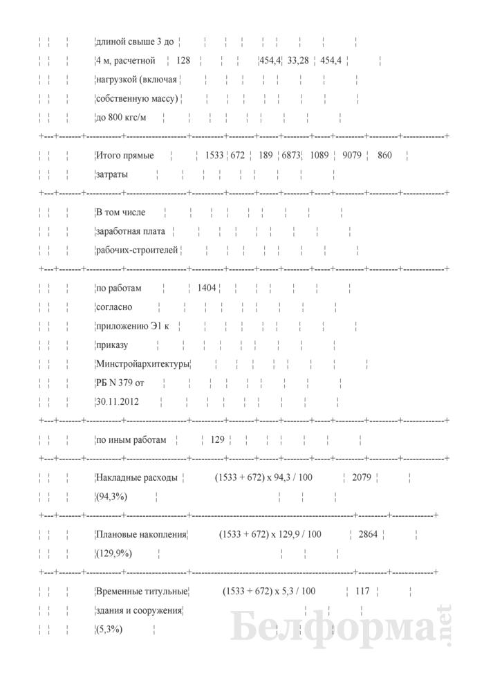 Акт сдачи-приемки выполненных строительных и иных специальных монтажных работ (Форма С-2, форма по ОКУД 0501030) (Образец заполнения). Страница 3