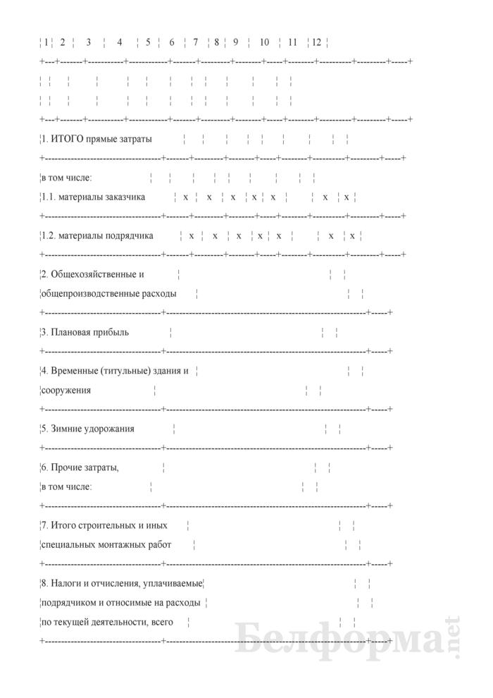 Акт сдачи-приемки выполненных строительных и иных специальных монтажных работ (Форма С-2а). Страница 2