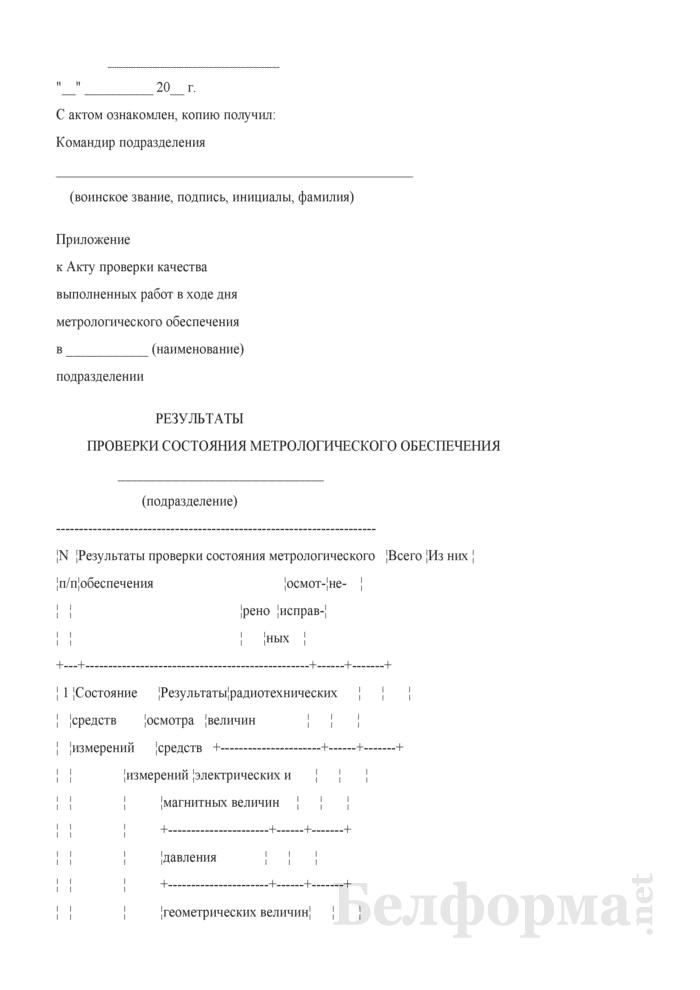 Образец акта проверки качества выполненных работ в ходе дня метрологического обеспечения в подразделении. Страница 3