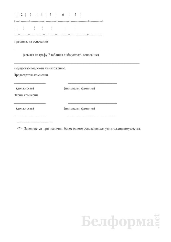 Протокол заседания комиссии, уполномоченной на подготовку заключений о невозможности (экономической нецелесообразности) реализации имущества. Страница 2