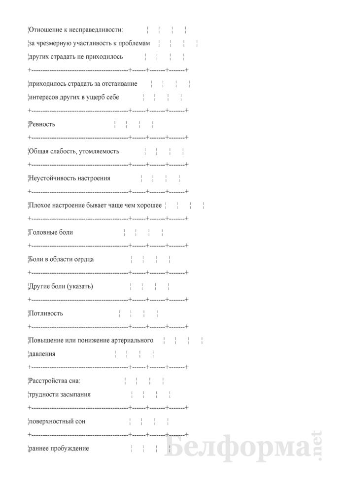 Анкета для пациента мужского пола (при проведении сексологического обследования). Страница 4
