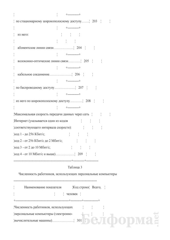 Анкета об использовании информационно-коммуникационных технологий и производстве вычислительной техники, программного обеспечения и оказании услуг в этих сферах (Форма 1-нт (икт) (годовая)). Страница 4