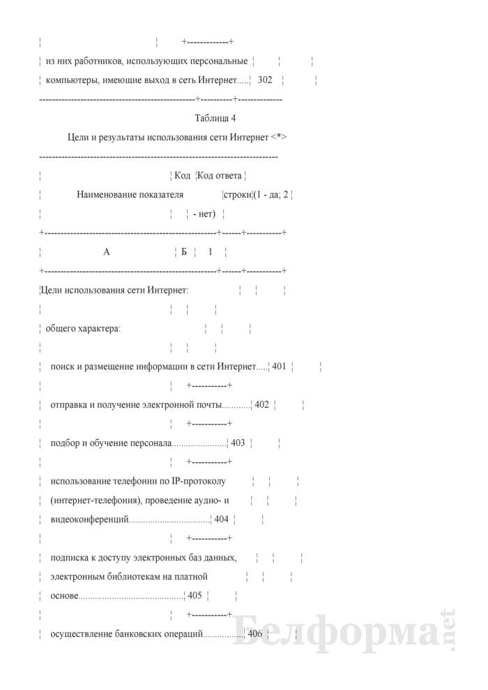 Анкета об использовании информационно-коммуникационных технологий и производстве вычислительной техники, программного обеспечения и оказании услуг в этих сферах (Форма 1-нт (икт) (годовая)). Страница 5
