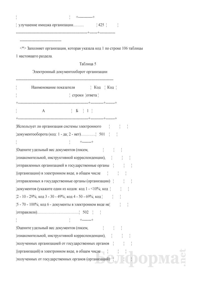 Анкета об использовании информационно-коммуникационных технологий и производстве вычислительной техники, программного обеспечения и оказании услуг в этих сферах (Форма 1-нт (икт) (годовая)). Страница 8