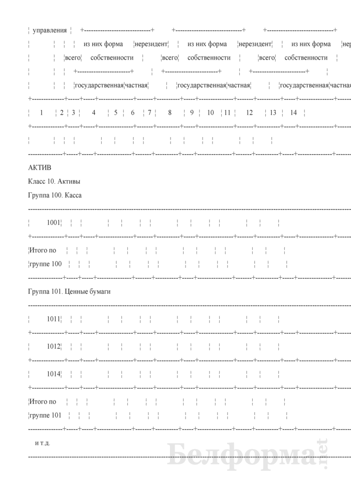 Бухгалтерский баланс (для банков и небанковских кредитно-финансовых организаций). Страница 11