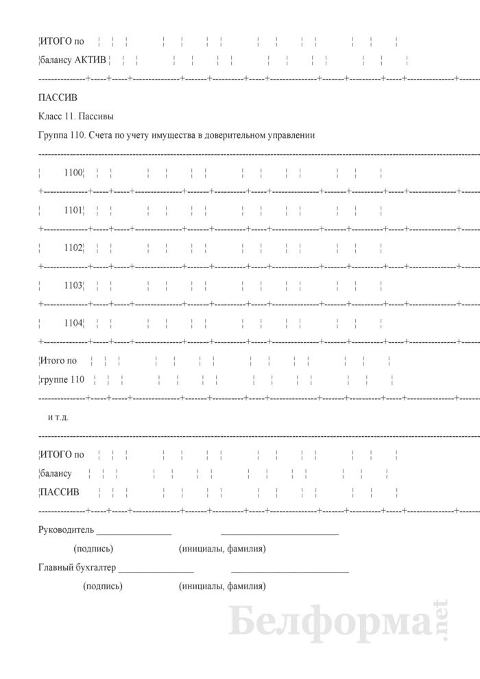 Бухгалтерский баланс (для банков и небанковских кредитно-финансовых организаций). Страница 12
