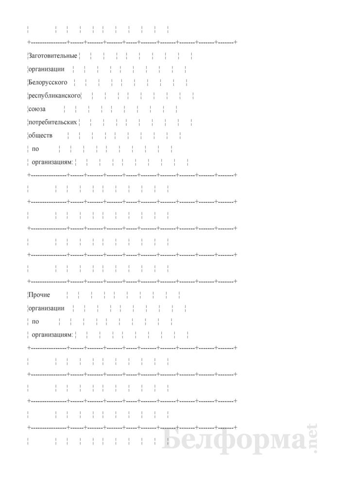 Отчетный баланс кожевенного сырья. Форма 4-кожсырье (Минсельхозпрод) (квартальная (I, II, III кварталы, год). Страница 10