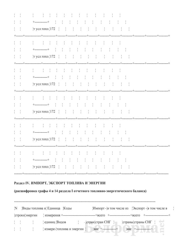 Отчетный топливно-энергетический баланс. Форма № 1-ТЭБ. Страница 16