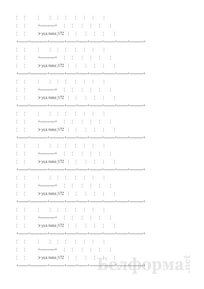 Отчетный топливно-энергетический баланс. Форма № 1-ТЭБ. Страница 25