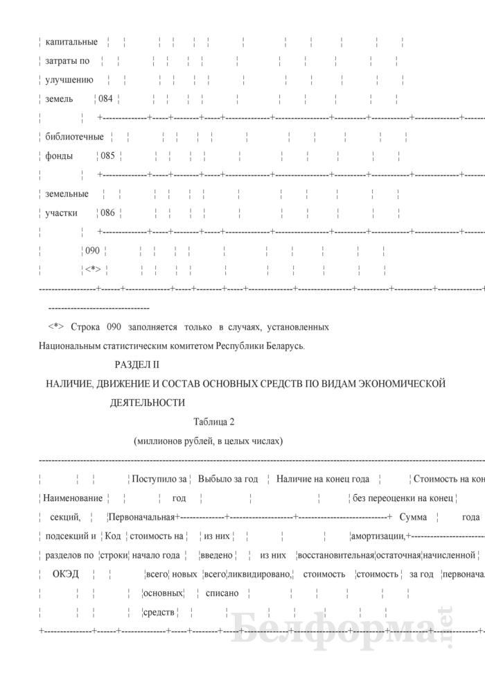 Отчет о наличии и движении основных средств и других внеоборотных активов (Форма 1-ф (ос) (годовая)). Страница 5