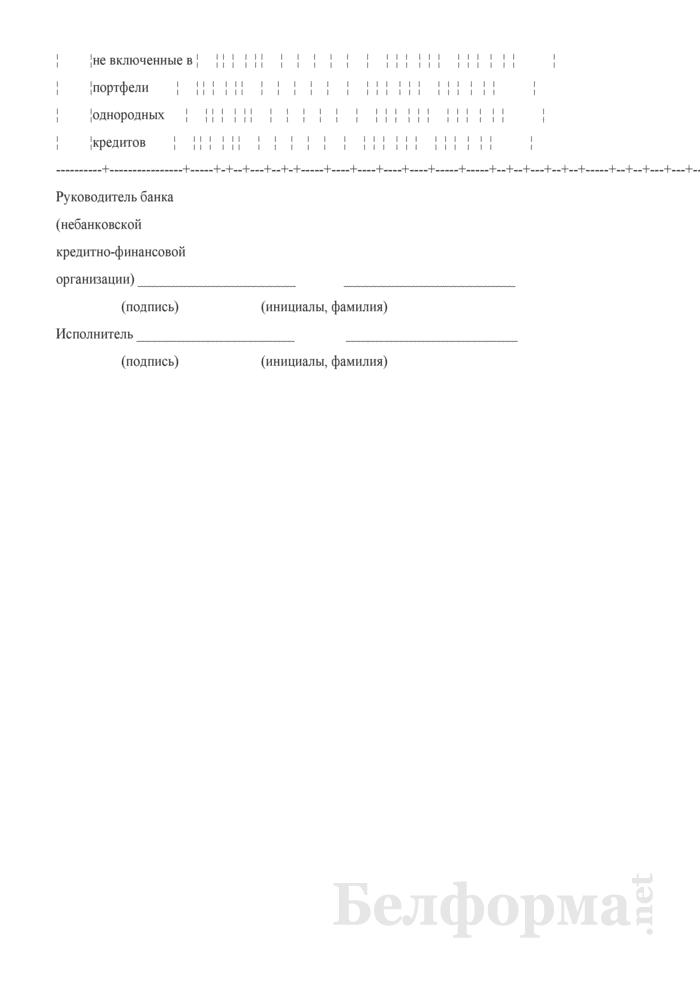 Отчет о размере специальных резервов на покрытие возможных убытков по активам и операциям, не отраженным на балансе. Форма № 2807 (ежемесячная). Страница 10