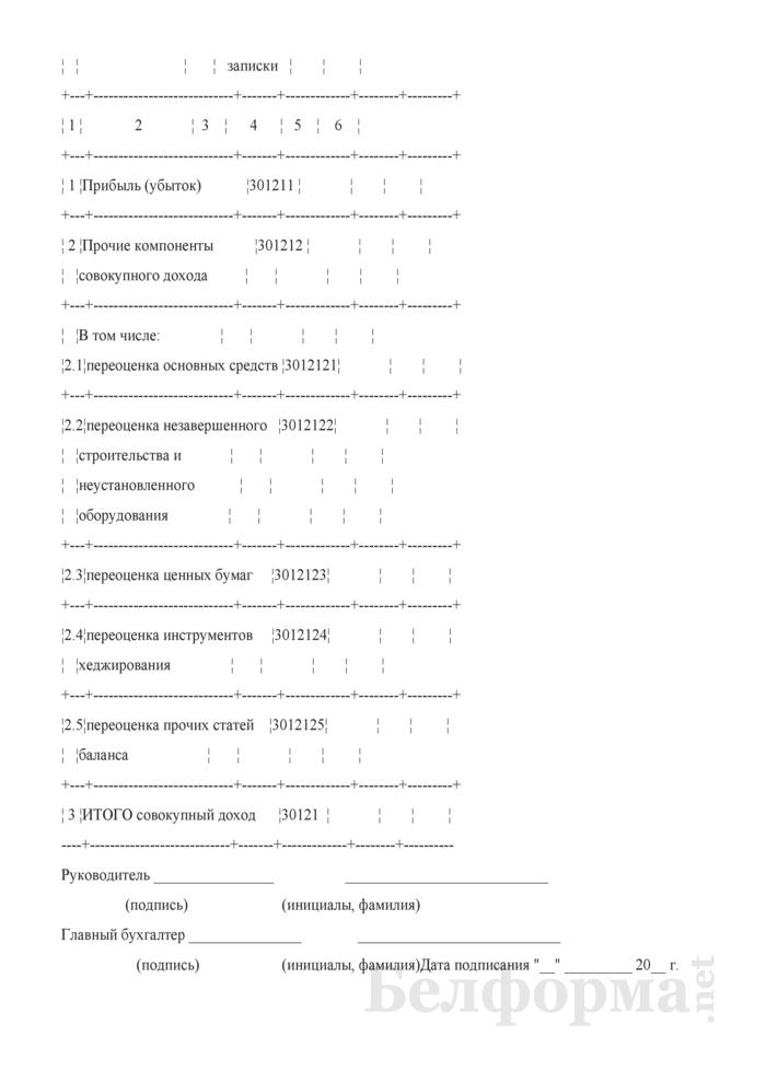 Отчет об изменении капитала. Форма 3 годовой финансовой отчетности банков. Страница 5