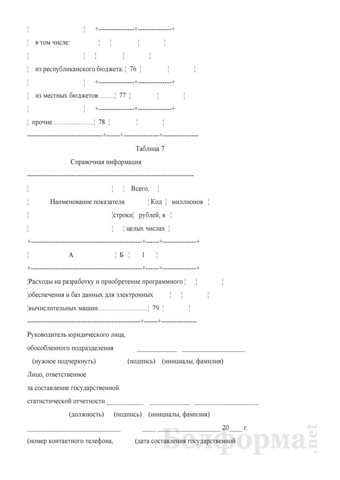 Отчет об отдельных финансовых показателях (Форма 1-ф (офп) (годовая)). Страница 11