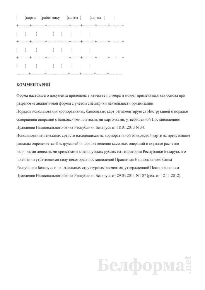 Примерное положение о порядке использования корпоративных банковских карт. Страница 3