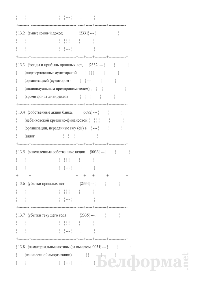 Расчет достаточности нормативного капитала. Форма № 2801 (ежемесячная). Страница 24