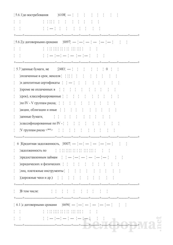 Расчет ликвидности. Форма № 2809 (ежемесячная). Страница 17