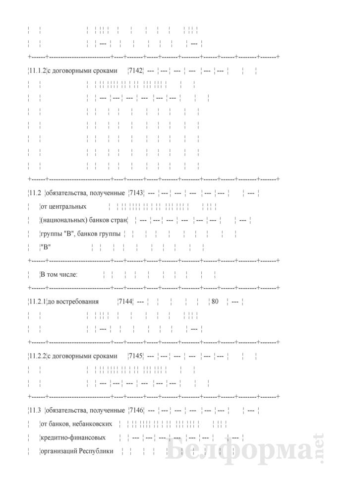 Расчет ликвидности. Форма № 2809 (ежемесячная). Страница 20