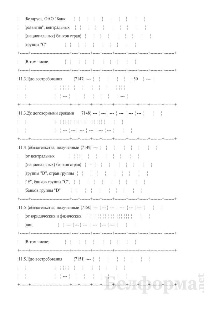 Расчет ликвидности. Форма № 2809 (ежемесячная). Страница 21