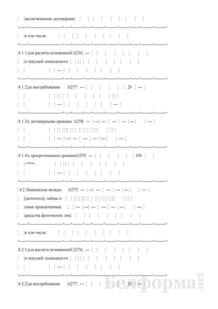 Расчет ликвидности. Форма № 2809 (ежемесячная). Страница 32