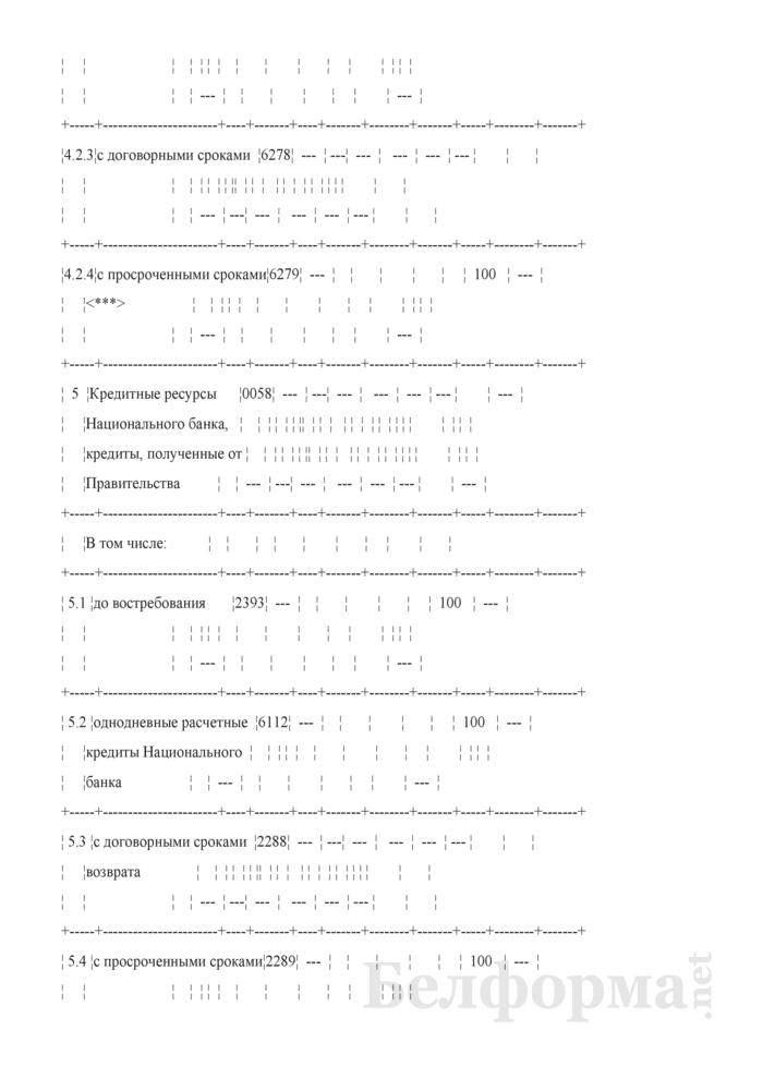 Расчет ликвидности. Форма № 2809 (ежемесячная). Страница 33