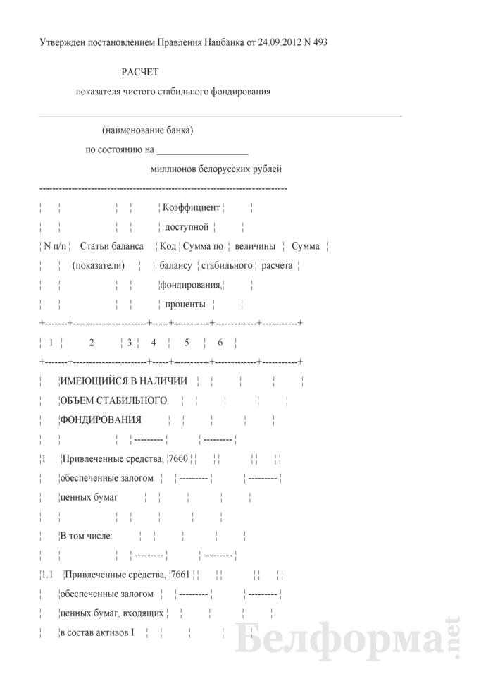 Расчет показателя чистого стабильного фондирования. Страница 1