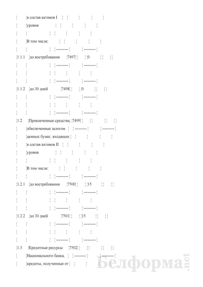 Расчет показателя покрытия ликвидности. Страница 6
