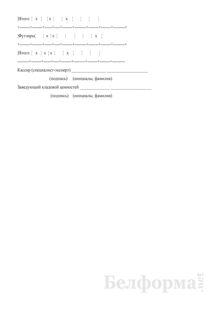 Реестр проданных мерных слитков. Форма № 0402710193. Страница 2