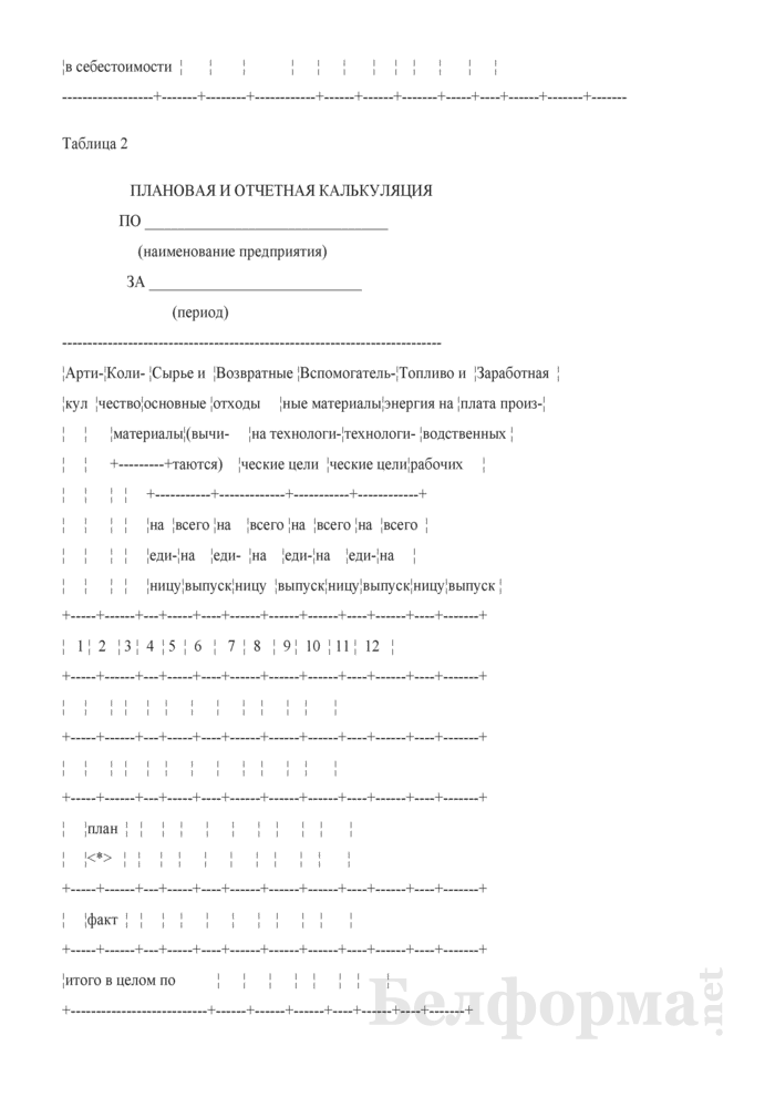 Рекомендуемая форма для проведения анализа себестоимости продукции по предприятию. Страница 4