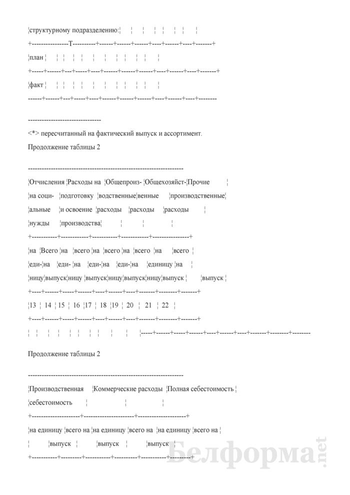 Рекомендуемая форма для проведения анализа себестоимости продукции по предприятию. Страница 5