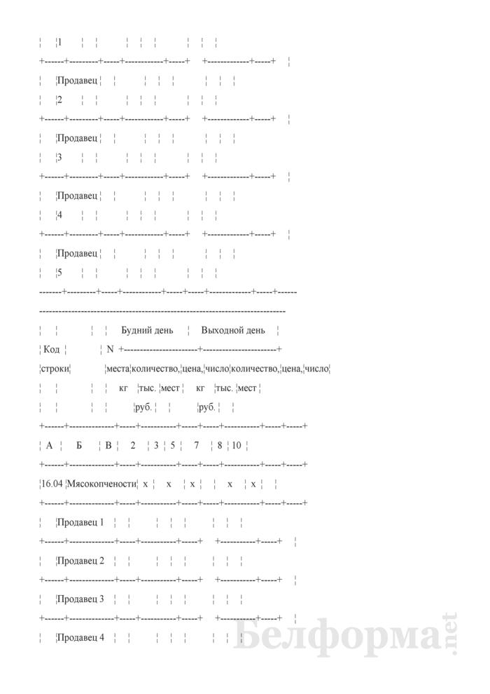 Блокнот регистрации объемов продажи и цен на товары на рынках, в торговых центрах. Страница 13