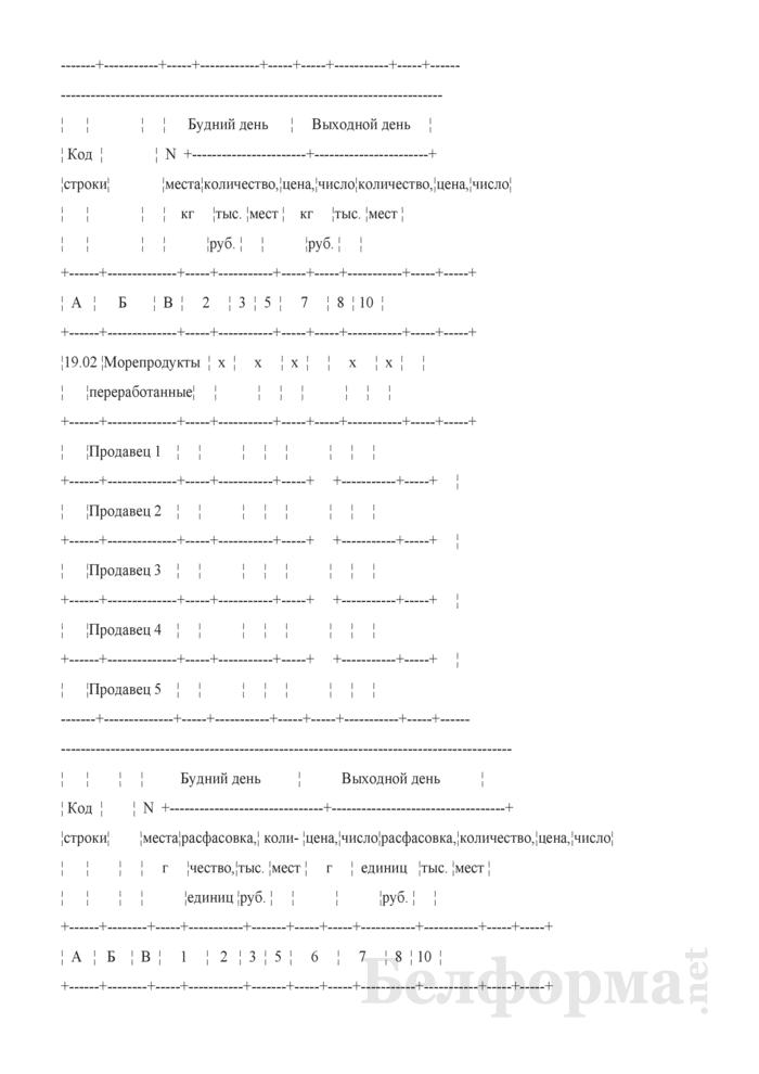 Блокнот регистрации объемов продажи и цен на товары на рынках, в торговых центрах. Страница 18