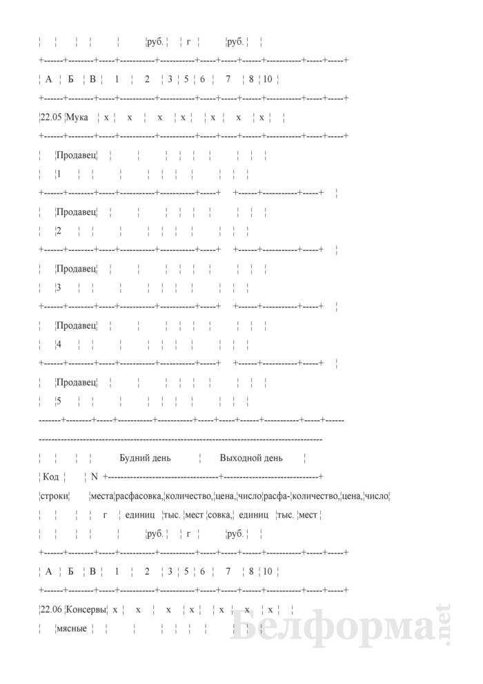 Блокнот регистрации объемов продажи и цен на товары на рынках, в торговых центрах. Страница 32