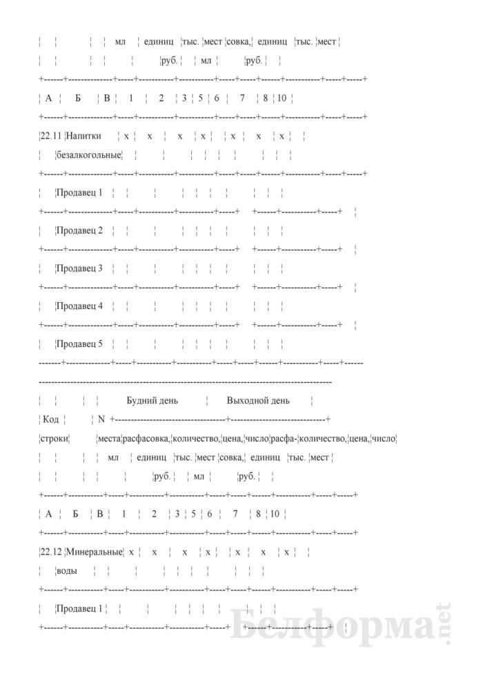 Блокнот регистрации объемов продажи и цен на товары на рынках, в торговых центрах. Страница 37