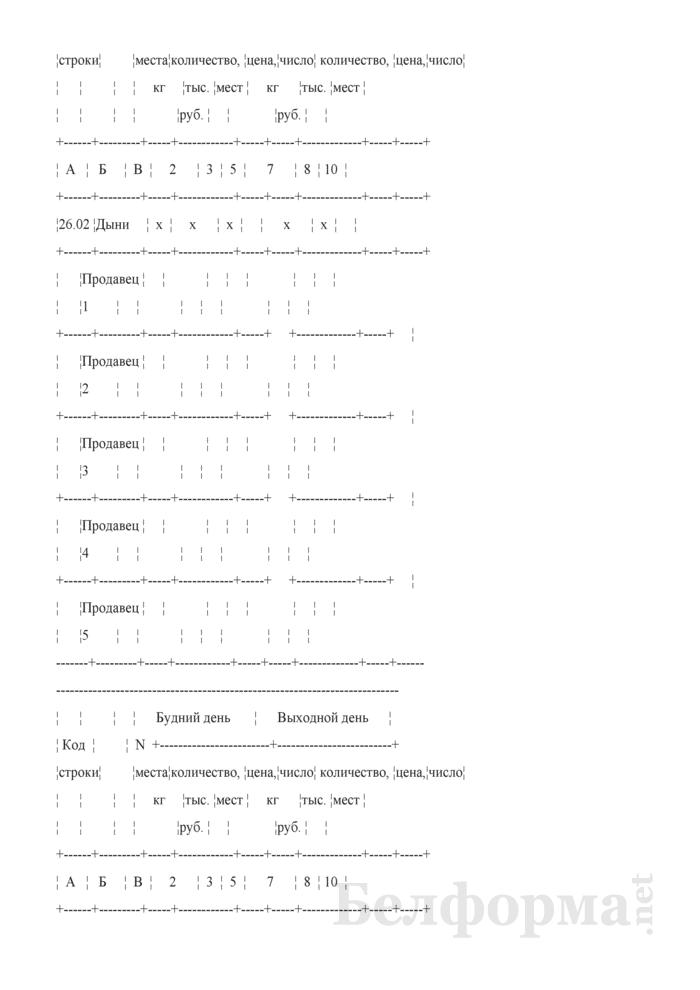 Блокнот регистрации объемов продажи и цен на товары на рынках, в торговых центрах. Страница 46