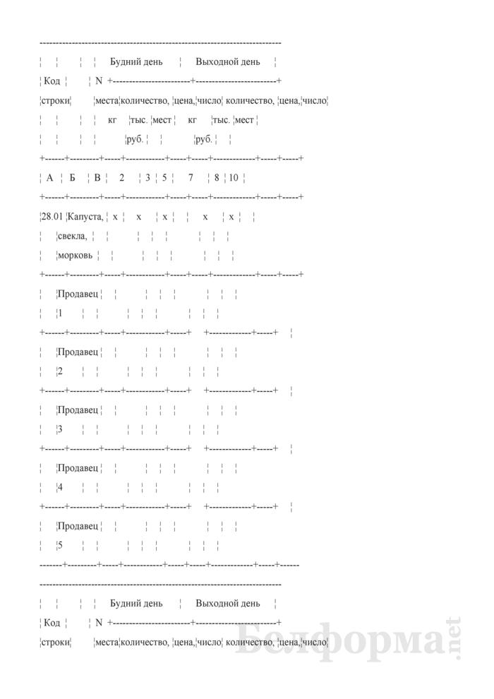 Блокнот регистрации объемов продажи и цен на товары на рынках, в торговых центрах. Страница 49