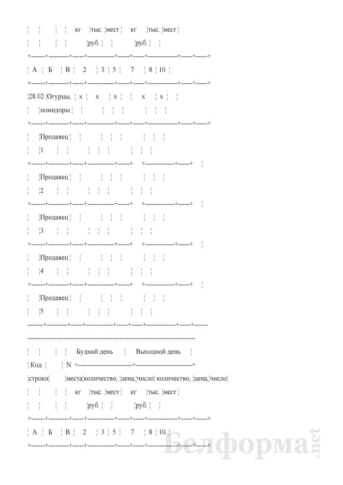 Блокнот регистрации объемов продажи и цен на товары на рынках, в торговых центрах. Страница 50