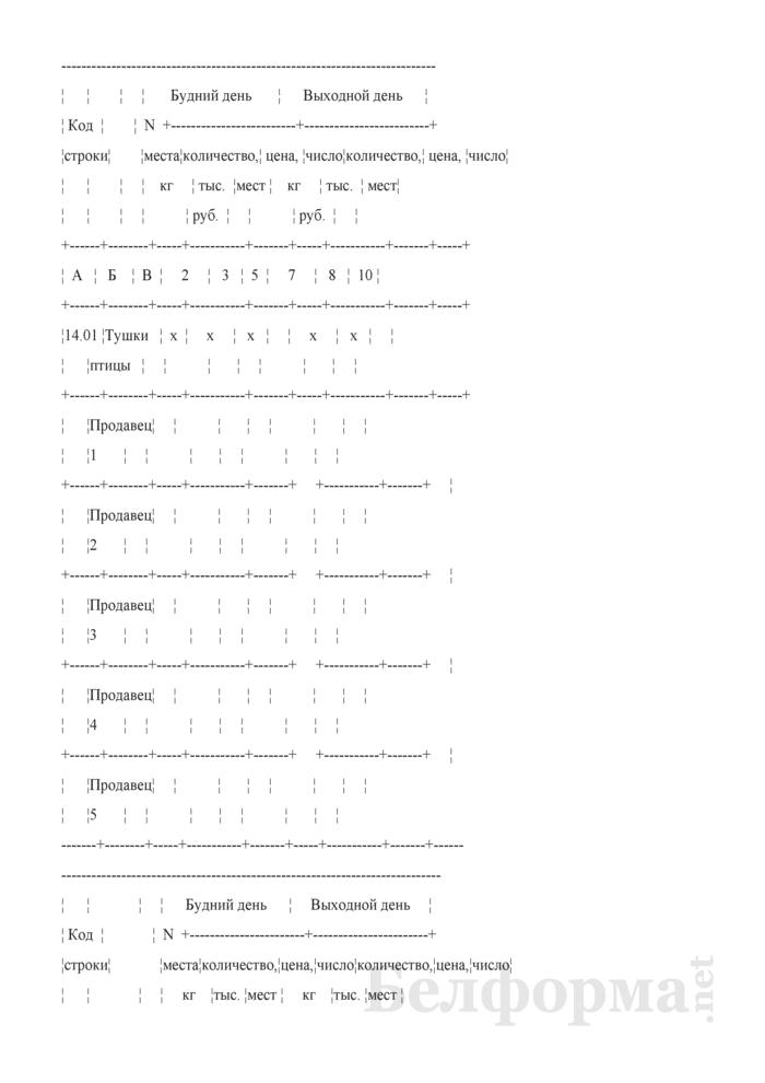 Блокнот регистрации объемов продажи и цен на товары на рынках, в торговых центрах. Страница 8