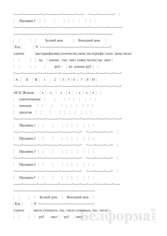 Блокнот регистрации объемов продажи и цен на товары на рынках, в торговых центрах. Страница 79