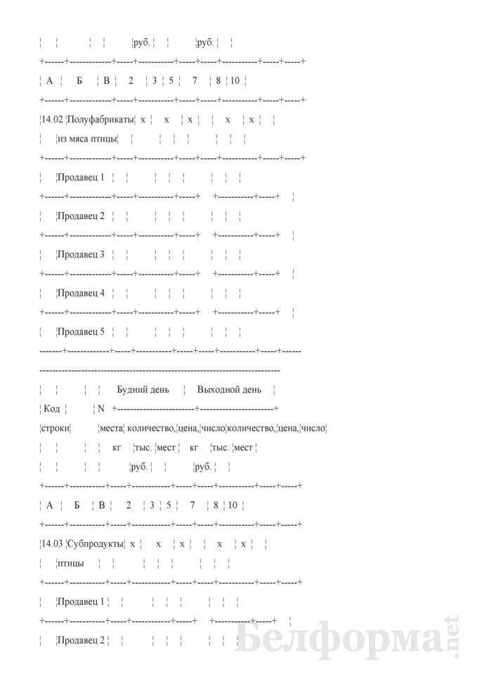 Блокнот регистрации объемов продажи и цен на товары на рынках, в торговых центрах. Страница 9