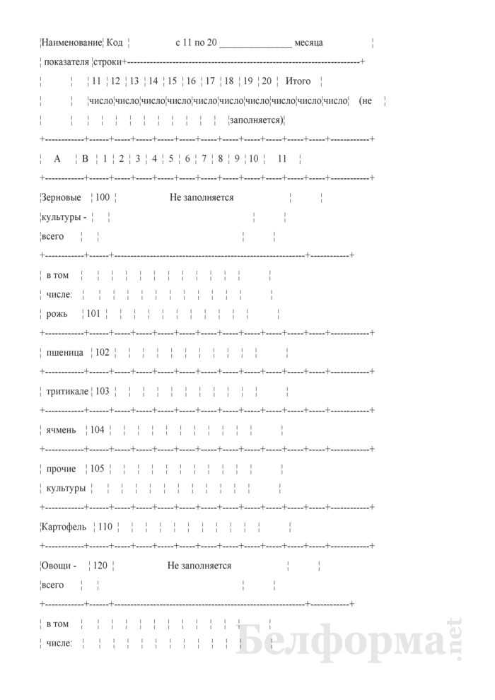 Дневник учета продукции растениеводства (Форма 6-сх (дх-растениеводство) (5 раз в год)). Страница 10