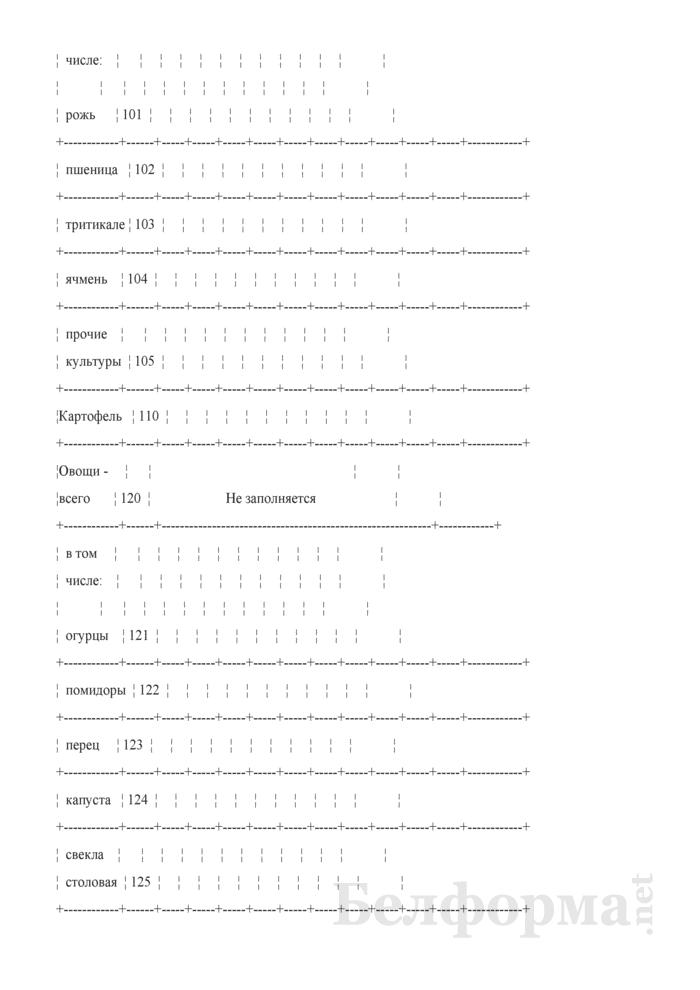 Дневник учета продукции растениеводства (Форма 6-сх (дх-растениеводство) (5 раз в год (за июнь, июль, август, сентябрь, октябрь)), код формы по ОКУД 0617414). Страница 11