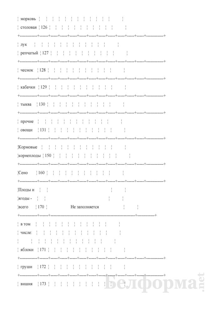 Дневник учета продукции растениеводства (Форма 6-сх (дх-растениеводство) (5 раз в год (за июнь, июль, август, сентябрь, октябрь)), код формы по ОКУД 0617414). Страница 12