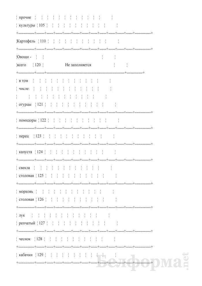 Дневник учета продукции растениеводства (Форма 6-сх (дх-растениеводство) (5 раз в год (за июнь, июль, август, сентябрь, октябрь)), код формы по ОКУД 0617414). Страница 8